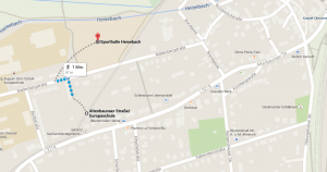 Anfahrt FC-Platz Heisebach (Karte)