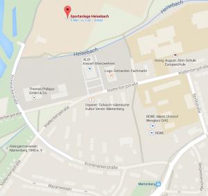 Anfahrt Heisebach Sportanlage