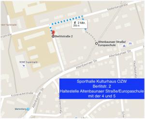 Wegbeschreibung Berlitstraße Kulturhaus
