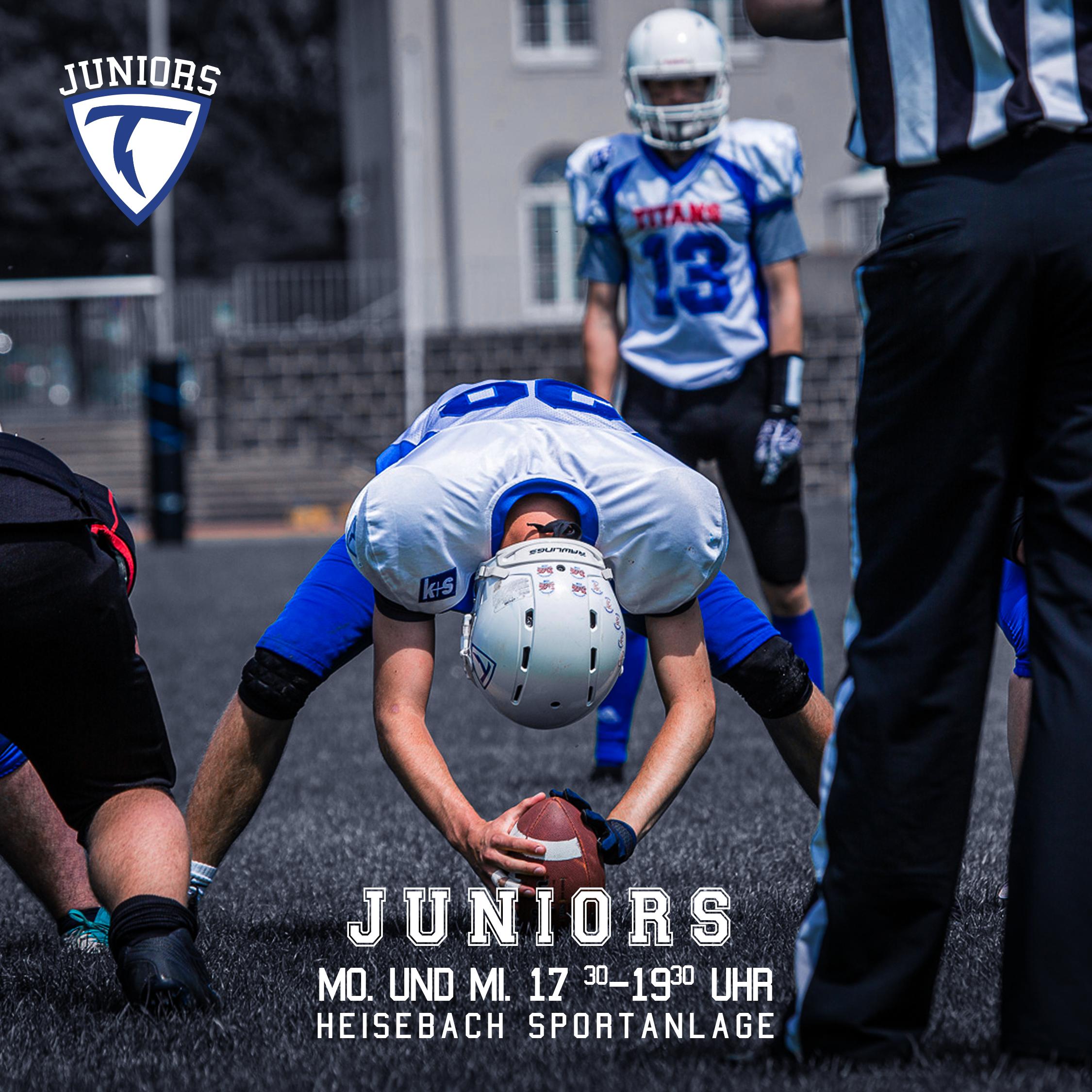 Neue Trainingszeiten der Juniors U16/U17/U19