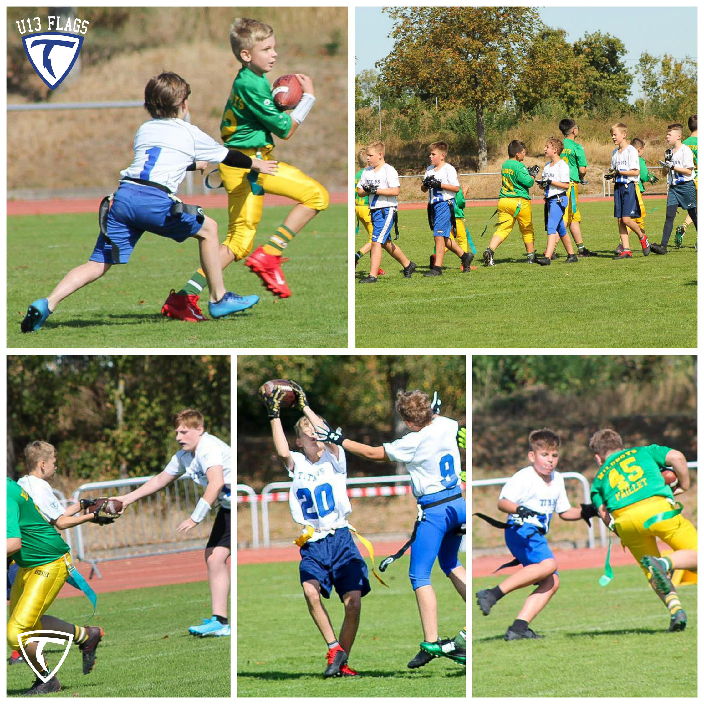 Unser U13-Flagfootballteam