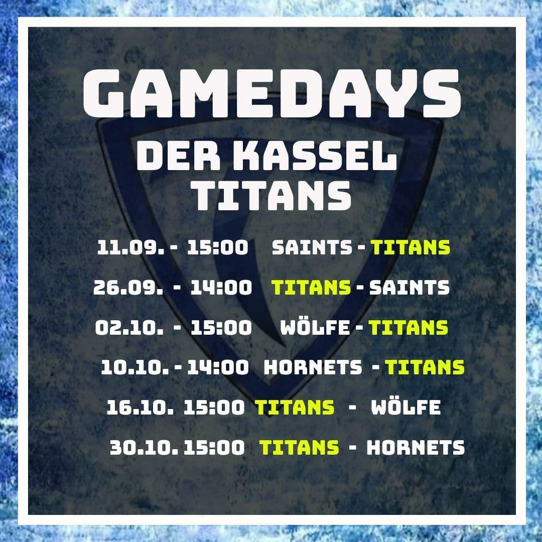 Gamedays der Titans Herren